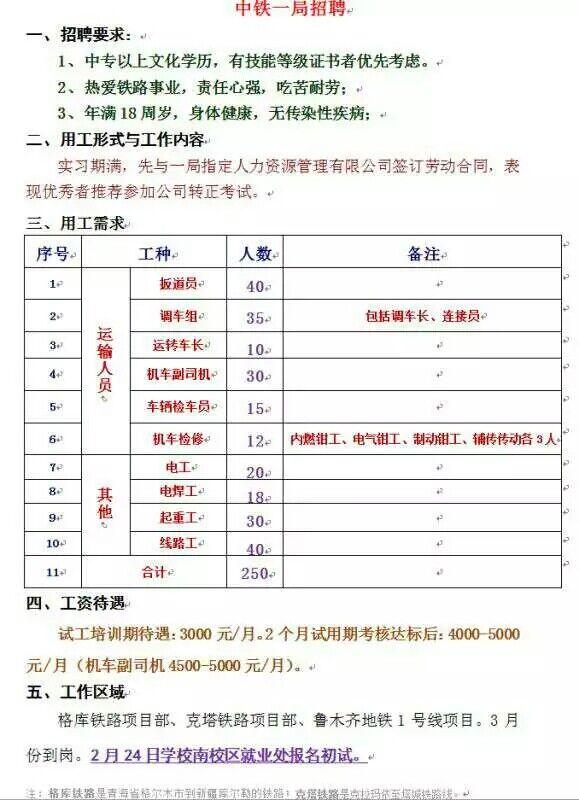石家庄<a href='http://www.tljixiao.com/tldz/' target='_blank'><u>铁路技校</u></a>17春招聘单位